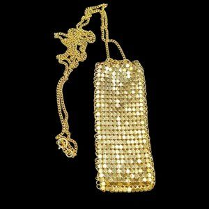Vintage Whiting and Davis Mesh Purse Necklace